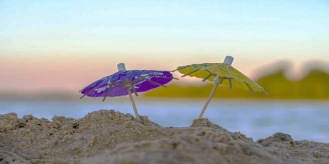 Parapluies à la plage